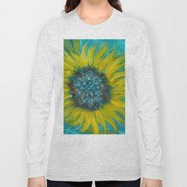 Sunflowers on Turquoise II Long Sleeve T-shirt