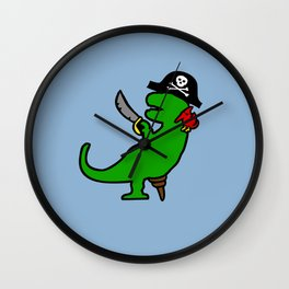Pirate Dinosaur - T-Rex Wall Clock