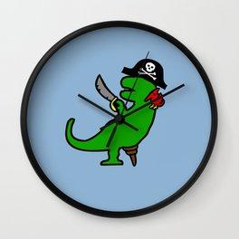 Pirate Dinosaur - T-Rex Wall Clock