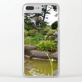 Japanese Garden Lantern Clear iPhone Case