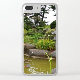 Japanese Garden Lantern Clear iPhone Case