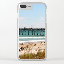 Beachgoers At Topsail Clear iPhone Case