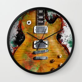 Gary Moore's and Peter Green's electric guitar Wall Clock