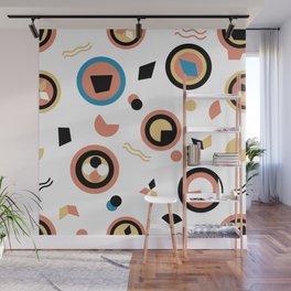 Circles and irregular shapes pattern Wall Mural