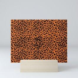 Leopard Russet Orange Mini Art Print