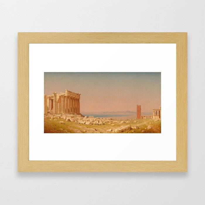 Ruins of the Parthenon Oil Painting by Sanford Robinson ...
