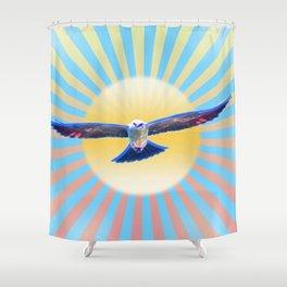 Hawk Starburst Shower Curtain