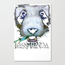Electric Bass Panda Canvas Print