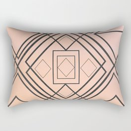 Modern coral gray watercolor ombre geometrical Rectangular Pillow