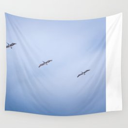 Three Pelican Amigos Wall Tapestry