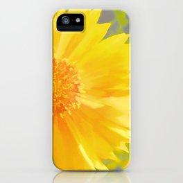 Yellow Wildflower - Coreopsis iPhone Case