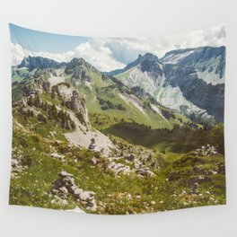 Swiss Alps Nature Landscape Wall Tapestry