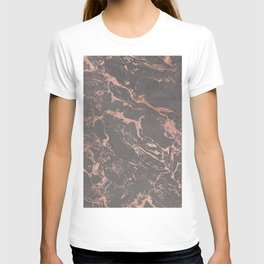 Modern Grey cement concrete on rose gold marble T-shirt