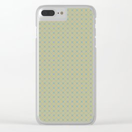 Tranquil Blue on Earthy Green Parable to 2020 Color of the Year Back to Nature Polka Dot Grid Clear iPhone Case