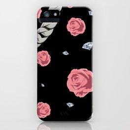 "Rose "" Pink  Black "" iPhone Case"