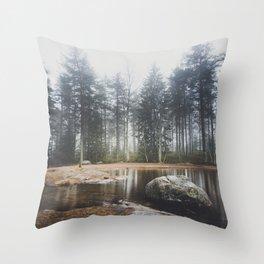 Moody mornings Throw Pillow