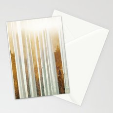 Golden Winter Forest 4 Stationery Cards