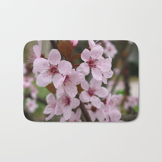 Cherry Plum Blossoms Bath Mat