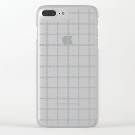 Dotted Grid Grey Clear iPhone Case
