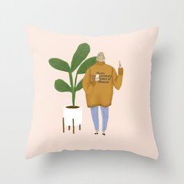 power of a woman Throw Pillow
