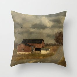 The Coming On Of Winter Throw Pillow