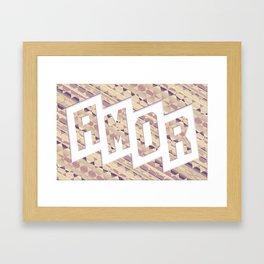 AMOR Framed Art Print