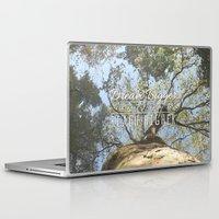 climbing Laptop & iPad Skins featuring KEEP CLIMBING by Aonair Designs