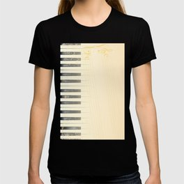Antique Piano Background T-shirt
