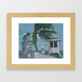 Lifeguard ~ oil study Framed Art Print