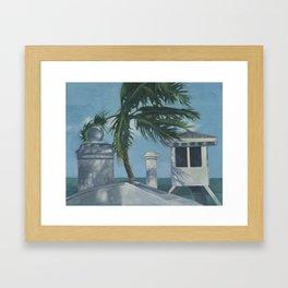 Lifeguard ~ oil study Framed Art Print