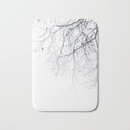 BLACK BRANCHES Bath Mat