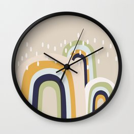 Abstract Stormy Rainbow I Wall Clock