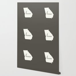 Georgia is Home - White on Charcoal Wallpaper