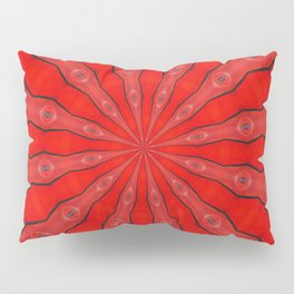 Red and Black Abstract Pillow Sham
