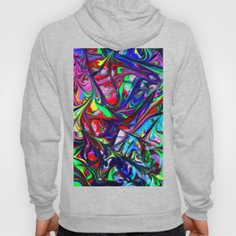 Abstract Color Mix Painting Art Hoody