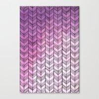 herringbone Canvas Prints featuring Herringbone by Tooth & Nail Designs