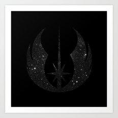 Jedi Order in Stars on Black Art Print