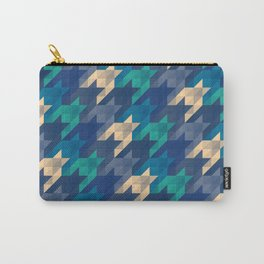 Origami houndstooth blues Carry-All Pouch