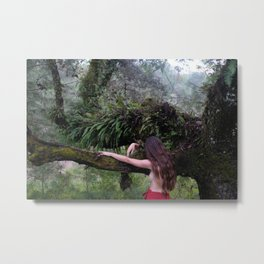 Forest Muse. Metal Print