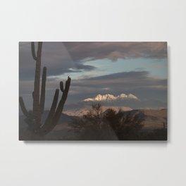 Arizona Four Peaks in Winter Metal Print