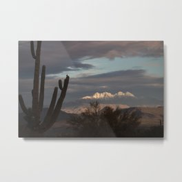 Arizona Four Peaks in Winter Metal Print