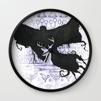 harry potter Wall Clocks featuring Harry Potter by Carmen McCormick