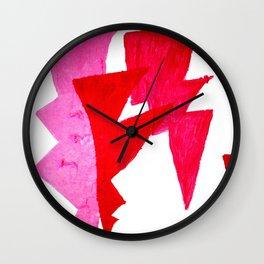 Lumpy Pink Lightning1 Wall Clock