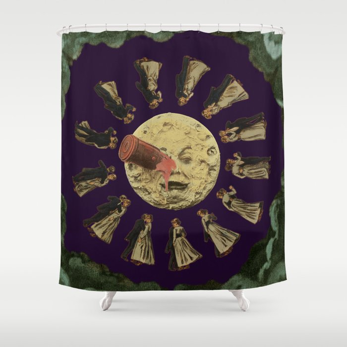 Dancing on the Moon Shower Curtain