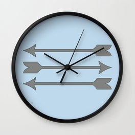 Baby blue and Grey Arrows Wall Clock