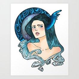 Celestial Blue Art Print