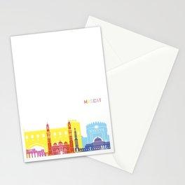 Muscat skyline pop Stationery Cards