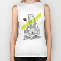 camping Biker Tanks featuring Camping Bear by Duke.Doks