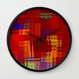 Square glass  5 Wall Clock