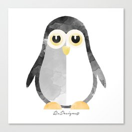 Water Colour Baby Penguin Canvas Print